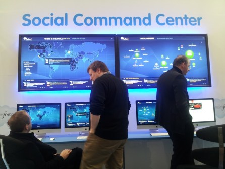 Salesforce social command centre at Cebit