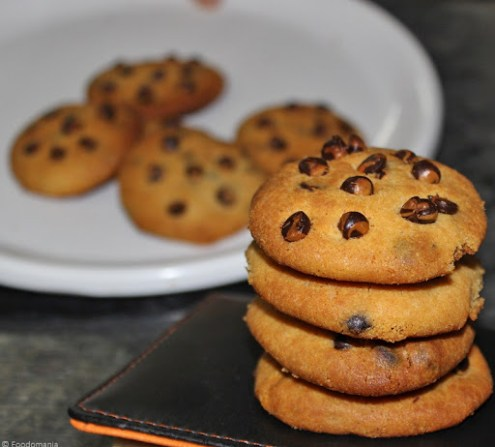 Perfect Eggless Chocolate Chip Cookies Recipe