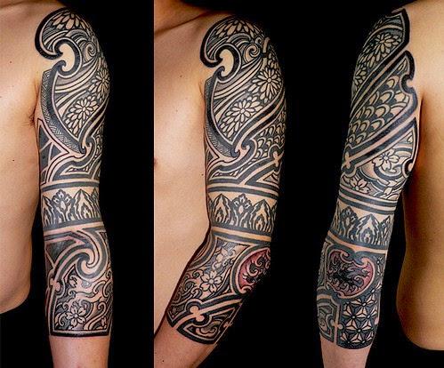 tribal tattoos full arm