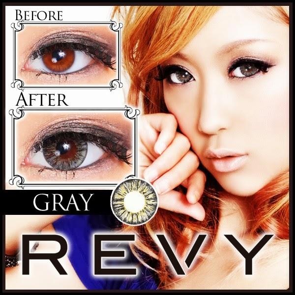 グラムカラコン REVY(レヴィ)度あり&度なしカラコン グレー 灰色カラコン 商品画像