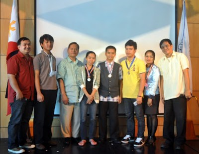Flash Animation Video Contest Winners (From Left) Darlene Tunggala Macararanga - 3rd; Lemuel Alitre - 2nd and Moises Libot - 1st