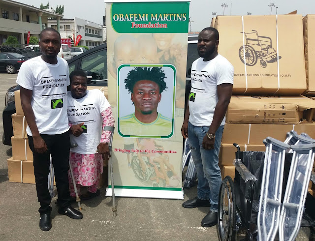 Obafemi Martins Foundation Donates Wheelchairs And Crutches To People With Disabilities. 12