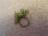 zöld köves bizsu gyűrű