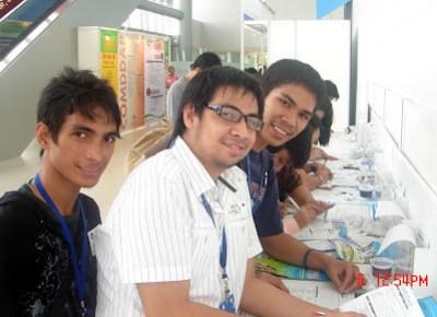 Students filing up registration forms