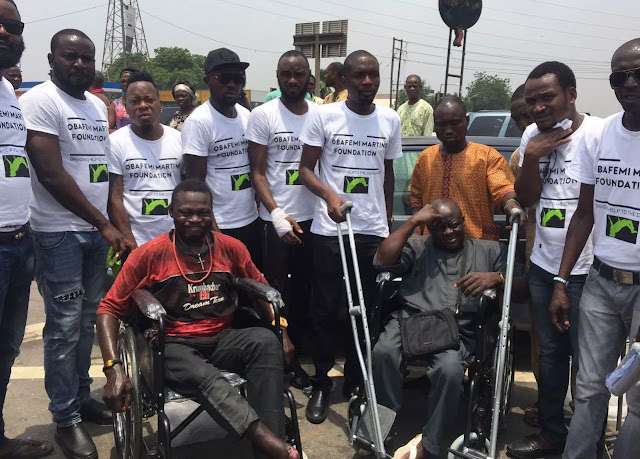 Obafemi Martins Foundation Donates Wheelchairs And Crutches To People With Disabilities. 13