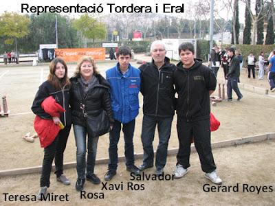 En Gerard amb altres jugadors durant una competició