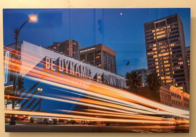 Be Dynamic - Be Downtown by Scott Murphy image of fast moving traffic downtown