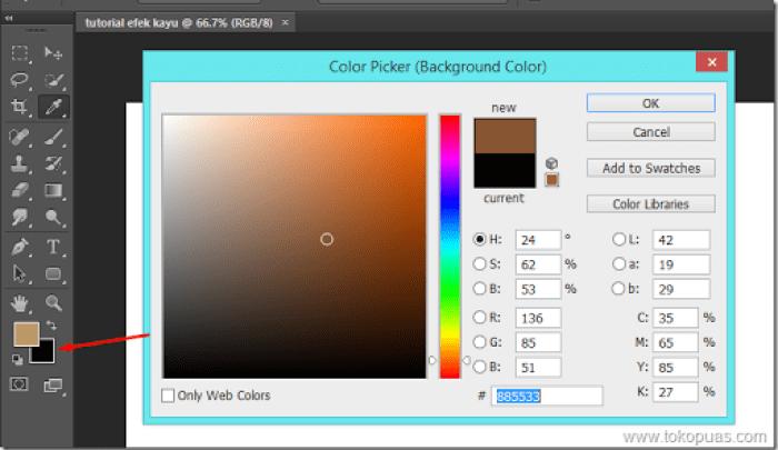 tutorial membuat efek kayu elemen photoshop