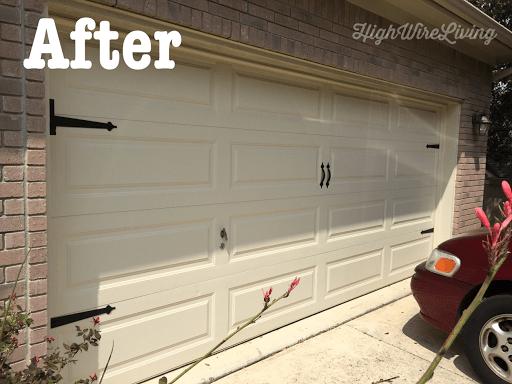 a garage door accents after
