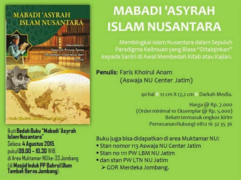 Bedah Buku Mabadi 'Asyrah Islam Nusantara karya Ustadz Faris Khoirul Anam