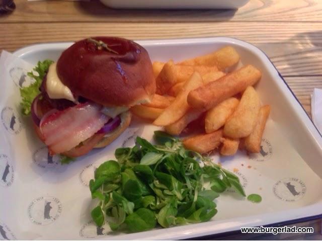 The Lazy Cow Stratford 8oz Dexter Burger