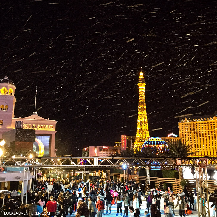 Las Vegas Ice Rink Cosmopolitan Hotel and Casino.