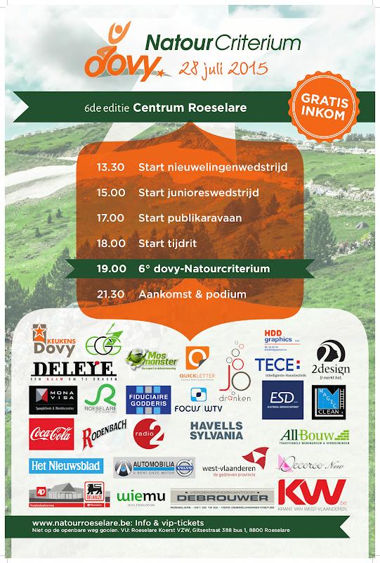 Programma Natourcriterium Roeselare 2015