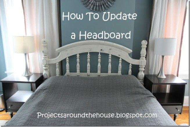 How to update a headboard with chalk paint