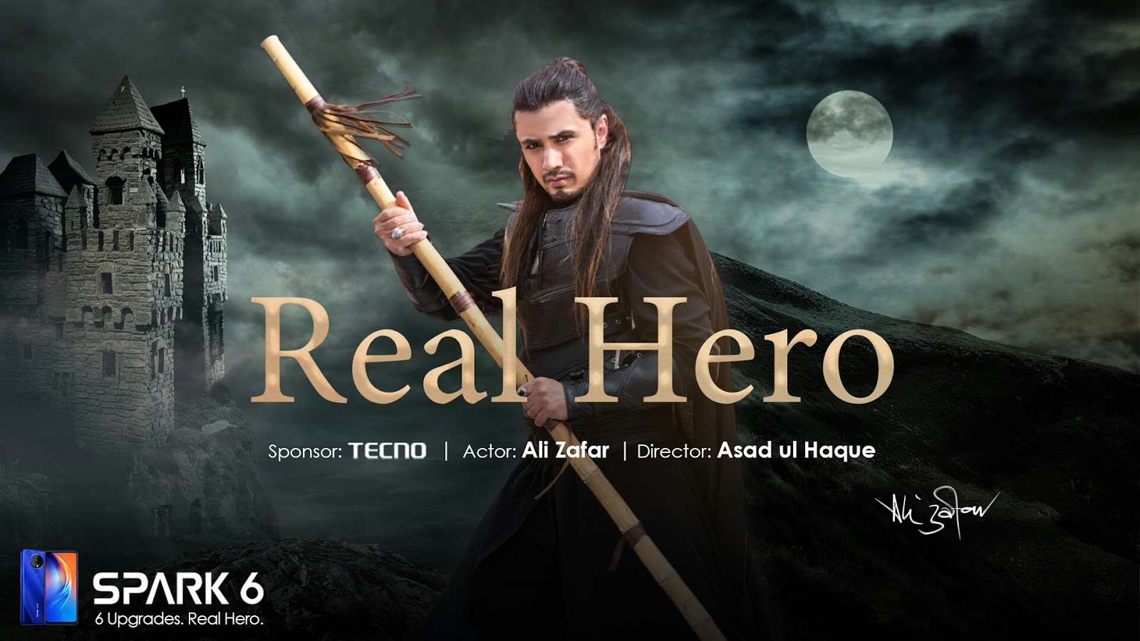 """""""TECNO appointed the REAL HERO, Ali Zafar, as the ambassador of Spark 6"""""""