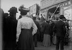 Frankfurter Wiesen; Messegeschehen Kleinmesse, um 1910, Fotograf: Adolf Deininger