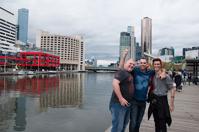 How none of us fell in the Yarra I will never know! Hey, where is Joe?