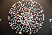 Mandala on Wacgo Yoga Pod Blackboard