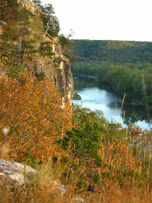 From the bluff looking downriver