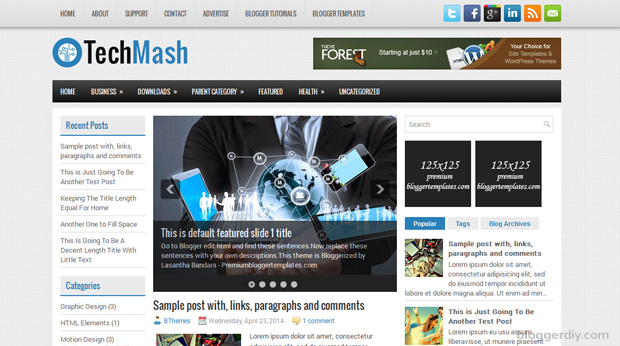 TechMash Blogger template