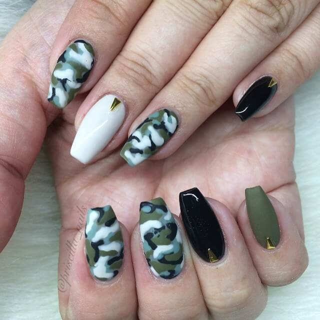 THE BEST CAMOUFLAGE NAIL DESIGNS FOR PRETTY WOMEN 4