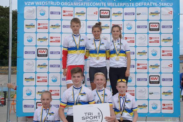 Alle provinciaal kampioenen baanwielrennen van West-Vlaanderen
