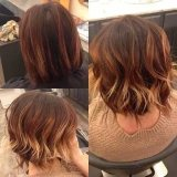 blonde red colored short wavy hair 2015
