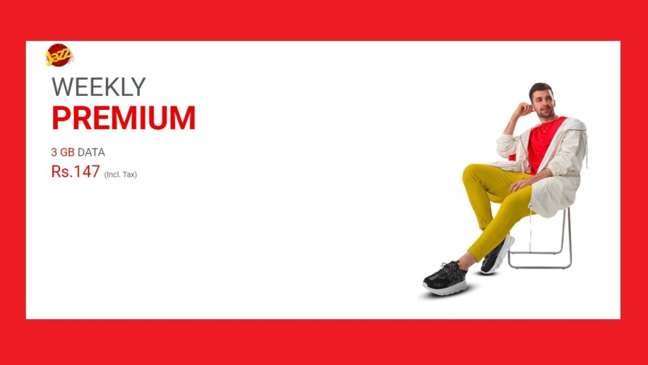 Jazz Weekly Premium gives 3 GB in just RS 147