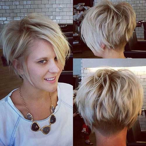 Hairstyles Front And Back View Beautiful Short Haircuts For Women With Round Faces