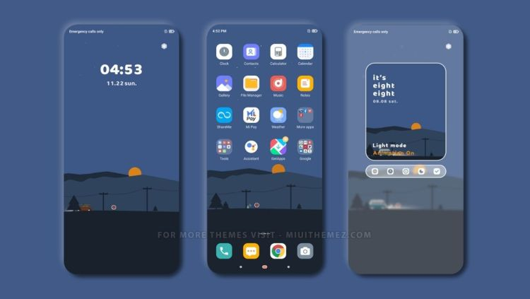 [HERUNTERLADEN] :  Anständiges blaues MIUI-Thema |  Sauberes, minimales und elegantes Xiaomi-Thema