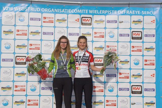 podium pistechallenge Rumbeke meisjes