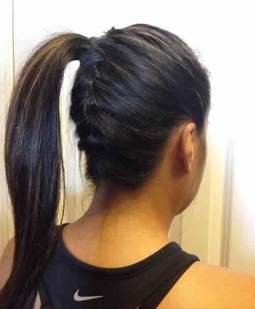 sweet Braided Ponytail for Medium Hair