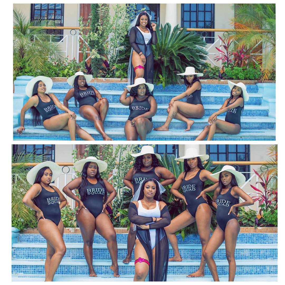 Bride & Her Squad Flaunt Sexy Bod In Swimsuits (Photos)
