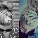 braided bun hairstyle trends 2017