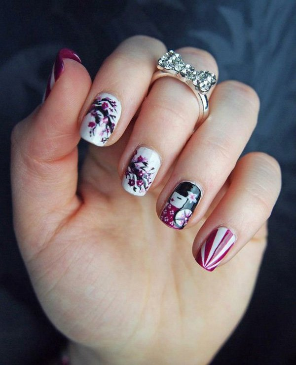 Very Cute JAPANESE NAIL ART DESIGNS For 2016 - Styles 2d