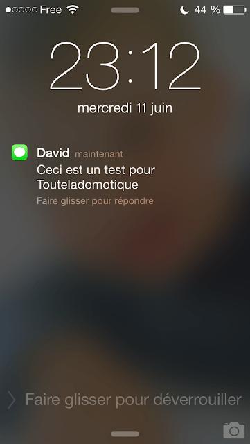 textodomo2 A relire : Notification SMS avec Free  avec la Eedomus