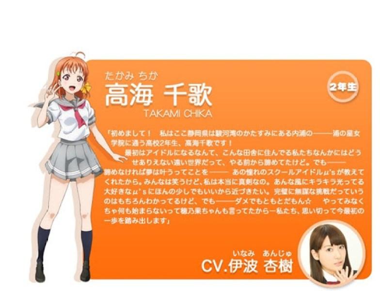 Chika Takami - love live anime