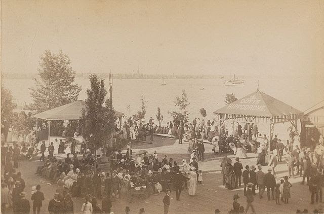 postcard-toronto-island-hanlans-point-people waiting-for-the-ferry-at-the-doty-co-ferry-docks-c1885-95-F.W.-Micklethwaite