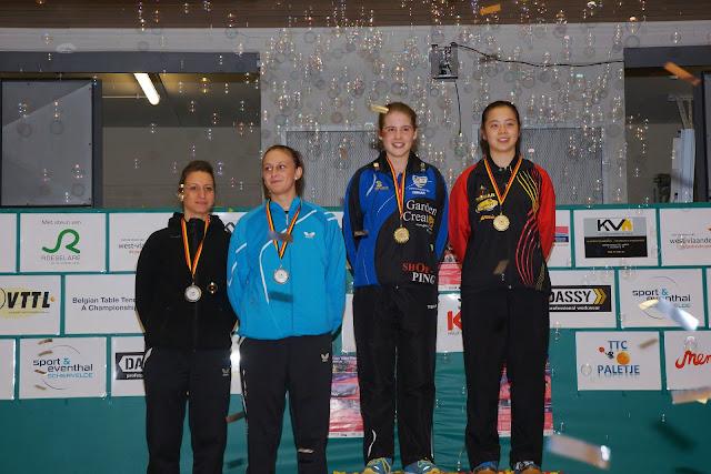 Belgisch Kampioen dames dubbel tafeltennis