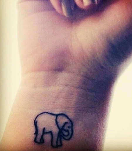 Elephant tattoos on wrist