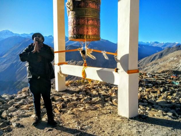 Offering my prayers near Nako monastery, Himachal Pradesh