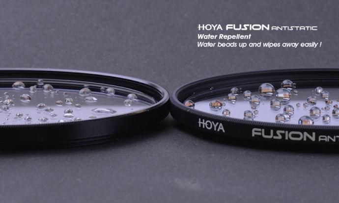 Testing khả năng chống thấm Kính lọc Filter HOYA Fusion Antistatic UV