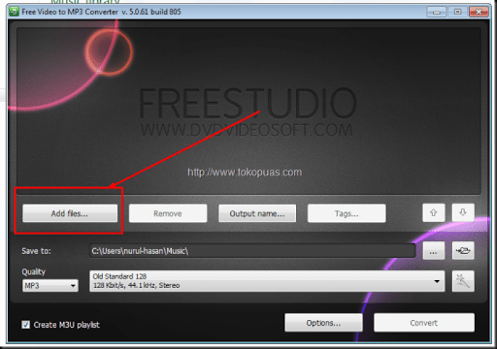 cara convert video ke dalam mp3