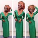 trendy green aso ebi lace styles 2016