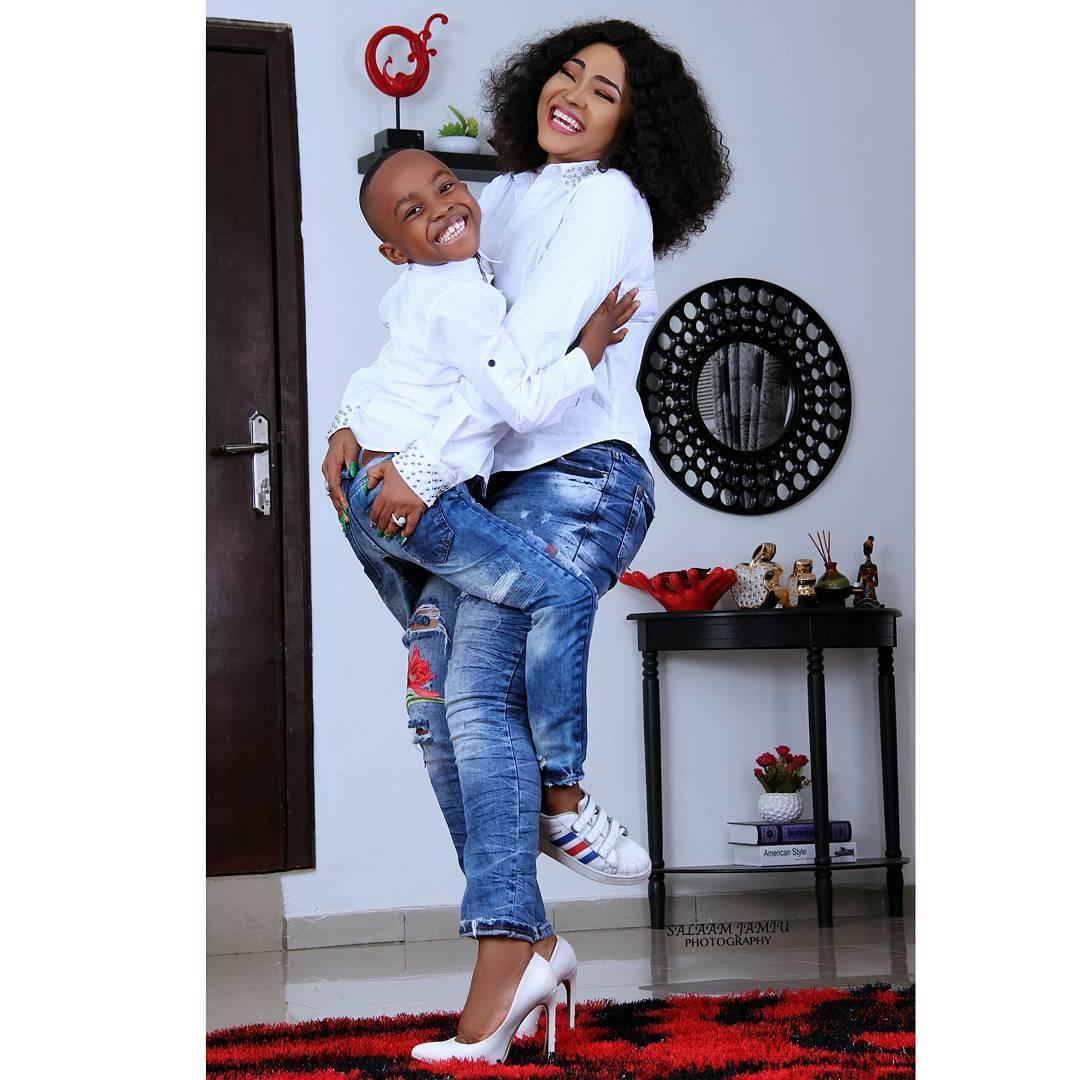 Olaju Photos: Mercy Aigbe Celebrates Her Son On His 7th Birthday