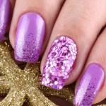 Modern Manicure with glitter 2017