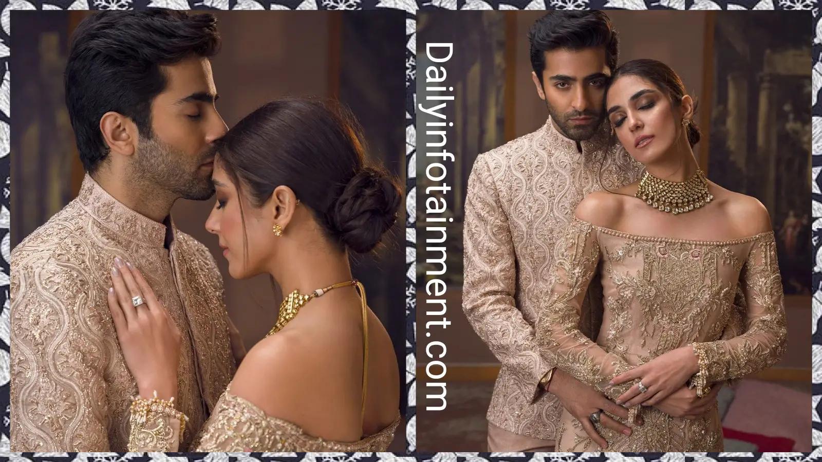 Maya Ali and Sheheryar Munawar Stunning Photoshoot for Faiza Saqlain New collection Yaar e Man