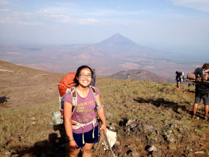 Jill climbs a volcano in Nicaragua