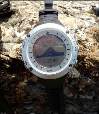 Suunto Ambit courbe altimetrique