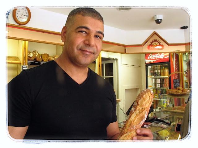 Ridha Kjadher, of Au paradis du gourmet Winner of 2013 baguette of the year.  Baguettes Paris Pic: Kerstin Rodgers